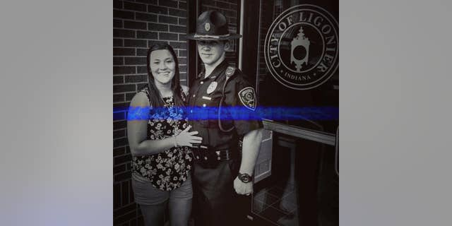 Ligonier Police Officer Ethan Kiser and 21-year-old wife Shawna Kiser were killed in an accident Monday on a snow-covered road.