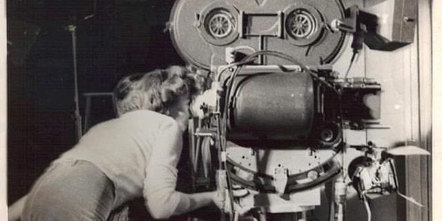 Ida Lupino working behind the camera.