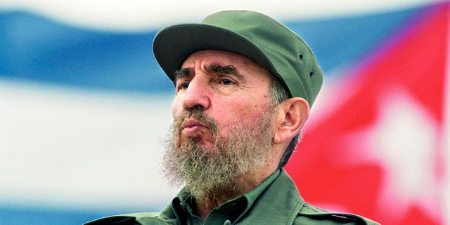 The late Fidel Castro is seen at the May Day parade at the Revolution Square in Havana, Cuba May 1, 1998. (Photo by Sven Creutzmann/Mambo Photography/Getty Images)