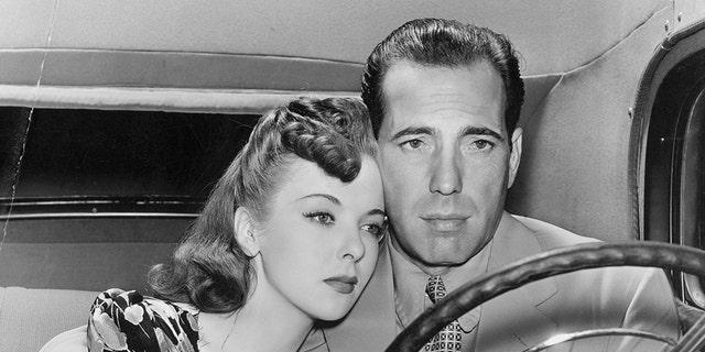 Ida Lupino with Humphrey Bogart. — Getty