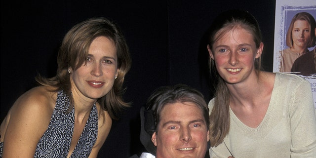 Dana Reeve, Christopher Reeve and daughter Alexandra.