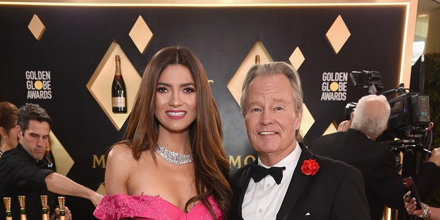 Blanca Blanco with boyfriend, actor John Savage, at the 2019 Golden Globe Awards.