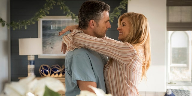 "Eric Bana as John Meehan AND Connie Britton as Debra Newell in Bravo's ""Dirty John."""