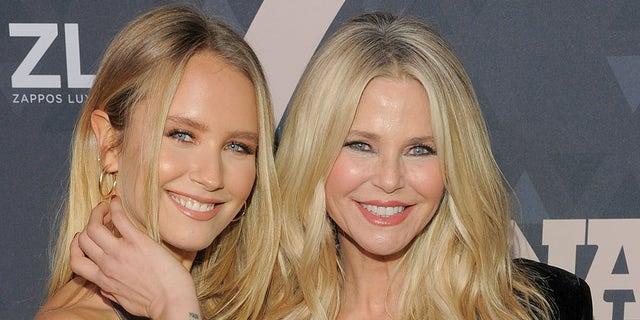 Sailor Brinkley Cook (left) and mom Christie Brinkley.