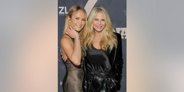 Sailor Brinkley Cook (left) and mom Christie Brinkley.