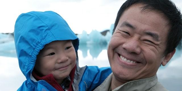 Xiyue Wang with son Shaofan