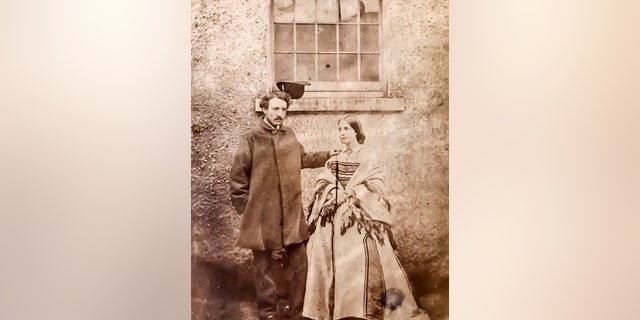 This picture shows Austen's great-niece Norah Mary Elizabeth Ward shortly after her wedding in April 1859. (SWNS)