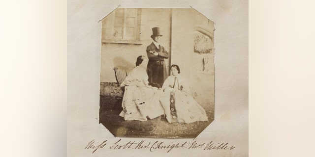 One of the fascinating pictures from Jane Austen's family's photo album. This one shows the Rev. Charles Bridges Knight with two women.