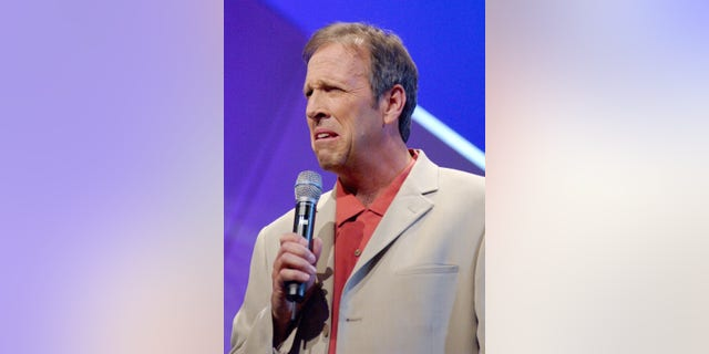 """Jeff Allen performs during """"Thou Shalt Laugh,"""" a Christian Comedy Show at Faith Community Church in West Covina, Calif. onMarch 15, 2006."""