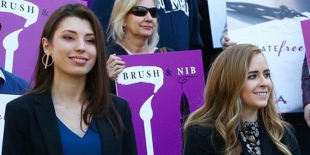 Joanna Duka, left, and Breanna Koski. (AP Photo / Ross D. Franklin)