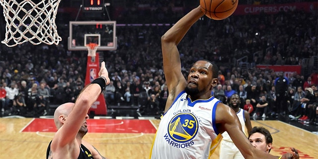 Two-time NBA champion Kevin Durant is the No. 18 greatest NBA player of all-time. (AP Photo/Mark J. Terrill)