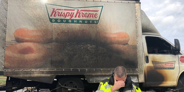 The Lexington Police Department in Kentucky went viral for their response to a Krispy Kreme Doughnuts truck catching fire and losing all the goods inside