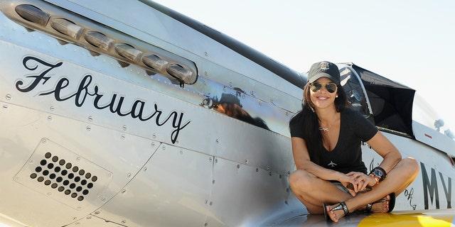 Lauren Sanchez at a Horsemen Flight Team event in Chino, Calif., in 2014.
