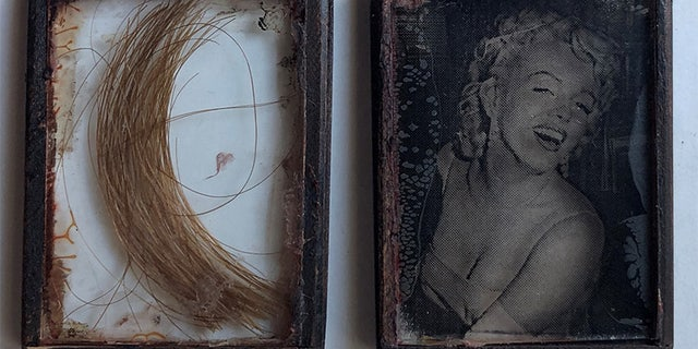 A clipping of hair that reportedly belonged to Marilyn Monroe is available for sale.
