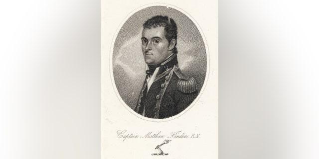 Engraving of Captain Matthew Flinders (1774-1814).