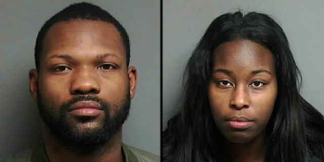 This undated booking photo released by Macomb County Sheriff's Office shows Antonio Floyd, 28, and Shantanice Barksdale, 27, who have been charged in the opioid overdose of their 18-month-old daughter who died on Christmas Day.