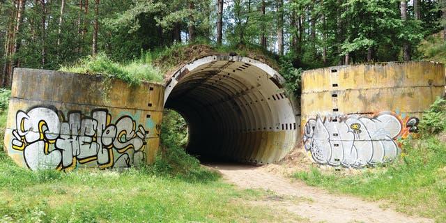 The Soviet nuclear bunker at Brzeźnica Kolonia. (Grzegorz Kiarszys/Antiquity)