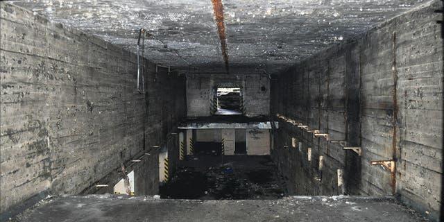 The plundered interior of the 'Monolit' nuclear warhead bunker at Brzeźnica Kolonia. (Grzegorz Kiarszys/Antiquity)