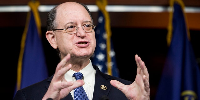 In this 2015 file photo, Rep. Brad Sherman, D-Calif., speaks during a press conference with House Democrats on Capitol Hill.