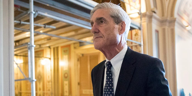 FILE - In this June 21, 2017, file photo, special counsel Robert Mueller departs after a meeting on Capitol Hill in Washington. (AP Photo/J. Scott Applewhite, File)