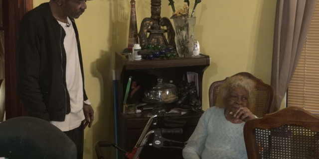 Malbrth Moses (left) and his 95-year-old mother (right) are one of many Houstonians still recovering after Hurricane Harvey. Moses says their home is far from being completely repaired.