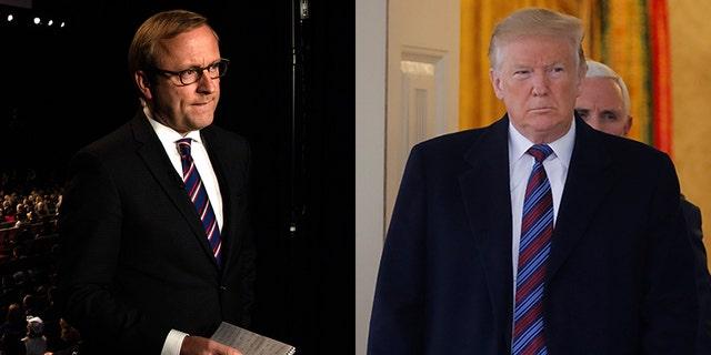 President Trump dressed down ABC News chief White House correspondent Jonathan Karl on Wednesday.