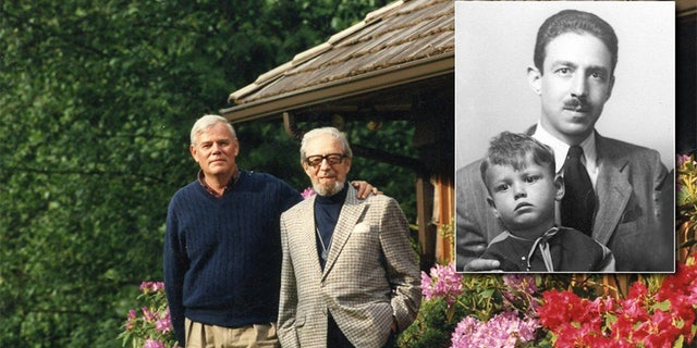 Steve Hodel with his father George Hodel in 1943 and 1995.