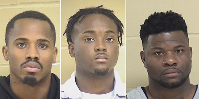 L-R: Treveon Anderson, Lawrence Pierre and Glenn Frieson were arrested in connection to the shooting death of a Louisiana police officer.