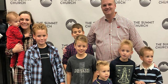 Jason and Sarah Everett attend The Summit Church in Conway, Arkansas with their seven boys.