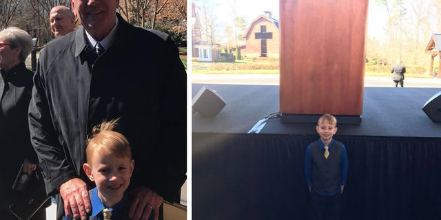 Titus Everett was able to attend Billy Graham's funeral at the Billy Graham Library and get a photo with Franklin Graham. Billy Graham was Titus' favorite preacher.