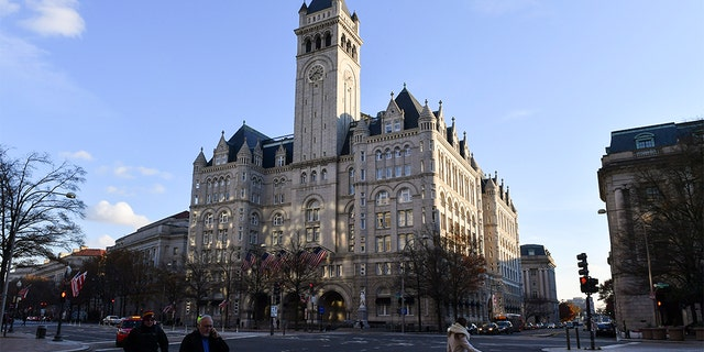 The Trump International Hotel is slated to host the attorney general's holiday party on Dec. 8. (Ricky Carioti/The Washington Post via Getty Images, File)
