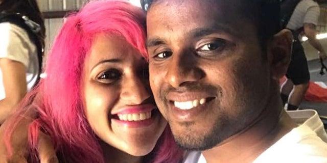 Meenakshi Moorthy, 30, left, and her husband, Vishnu Viswanath, 29, wereavid travelers who died in October at Yosemite National Park. (Facebook)
