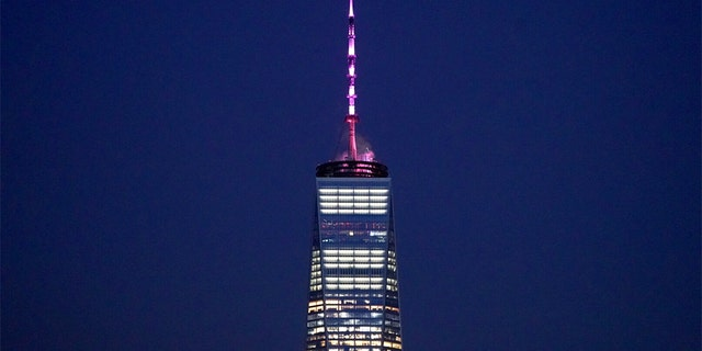 "The governor of New York, Andrew Cuomo, assigned the One World Trade Center and other landmarks to the Tuesday in Pink lit up for the passage of ""Reproductive Health Act."""