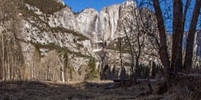 This photo shows trash tossed on the grounds on the grounds in Yosemite National Park, Calif.