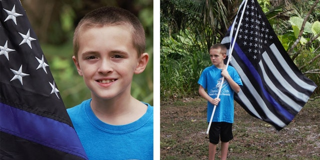 A 10-year-old boy in Florida has reportedly found his own way to pay his respects to fallen law enforcement officers – by running for them.