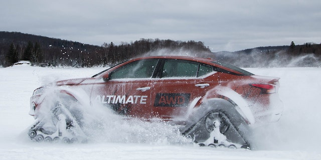 Well, Nissan put snow tracks on a 2019 Altima