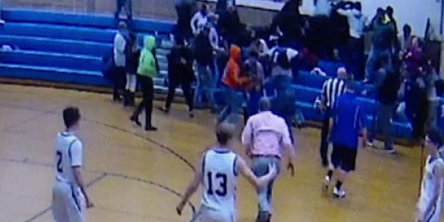 The brawl broke out at the Pennsville Middle School on Saturday during a basketball game.
