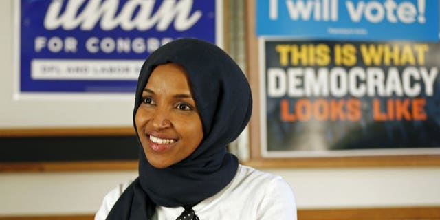 Hard-left Democratic Rep. Ilhan Omar is facing backlash and accusations of homophobia after repeating baseless allegations pushed by MSNBC and liberal activists that South Carolina Sen. Lindsey Graham is being blackmailed into supporting President Trump. (AP Photo/Jim Mone)