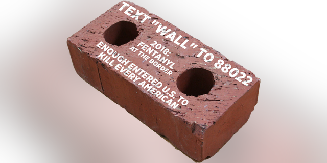 President Trump's re-election campaign said Friday they are sending faux red bricks to the offices of House Speaker Nancy Pelosi and Senate Minority Leader Chuck Schumer until Democrats agree to fund a border wall amid the fight over the partial government shutdown. (Trump campaign)