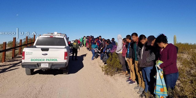 A group of 242 Central American migrants were found in the southwest Arizona desert on Thursday.