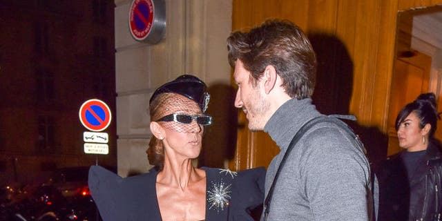 Celine Dion and Pepe Munoz are seen on Jan. 25, 2019 in Paris, France.