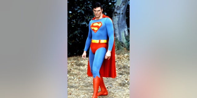 "Christopher Reeve as ""Superman. — AP"