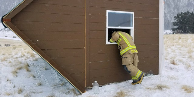 """Fire officials said the incident showed that tiny homes and blizzard-force winds """"do not like each other."""""""