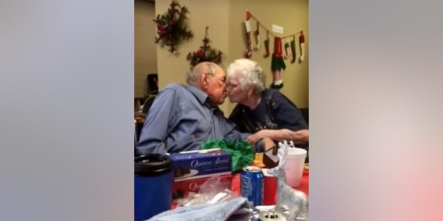 """The sweet exchange between the """"inseparable"""" couple was captured on video."""