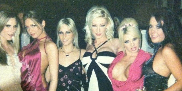 Crystal DiGregorio-Bassette pictured with other adult film stars. She is now free from porn and ministering hope and healing to others.