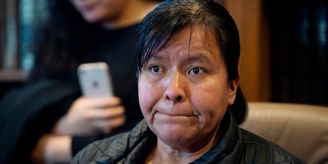 Maria Gomez, Jilmar Ramos-Gomez's mother, speaks to the media at the office of attorney Richard Kessler in Grand Rapids, Michigan, on Wednesday