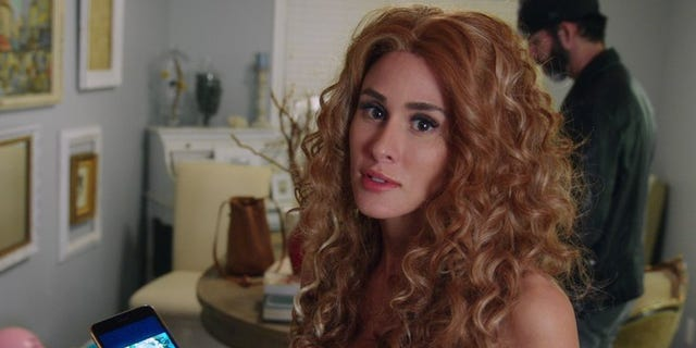 "Brittany Furlan dressed as Beyonce in a scene from ""The American Meme."""