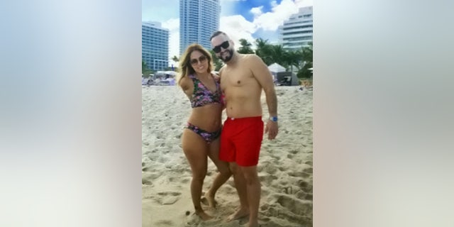 Dejesus,pictured with her husband, said she instructed the boat's occupants to apply pressure to her wound and elevate her legs as they raced her to the lake's dock to an awaiting ambulance.