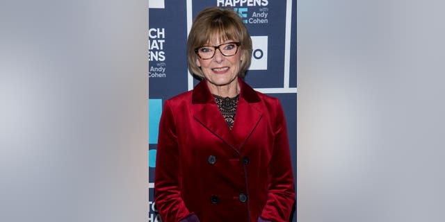 """Jane Curtin on """"What Happens Live with Andy Cohen"""" in 2018. (Charles Sykes/Bravo/NBCU Photo Bank via Getty Images)"""