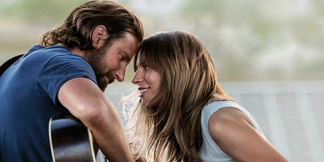 "Oscar nominees Bradley Cooper and Lady Gaga in ""A Star Is Born"""